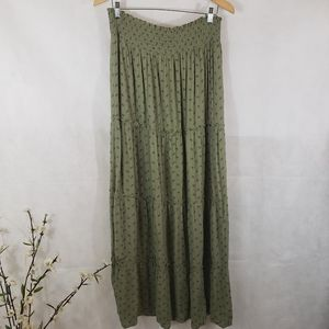Mossimo Supply Co Olive Maxi Skirt